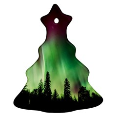 Aurora Borealis Northern Lights Christmas Tree Ornament (two Sides) by BangZart
