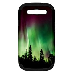 Aurora Borealis Northern Lights Samsung Galaxy S Iii Hardshell Case (pc+silicone) by BangZart
