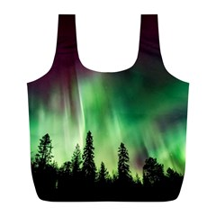 Aurora Borealis Northern Lights Full Print Recycle Bags (l)  by BangZart