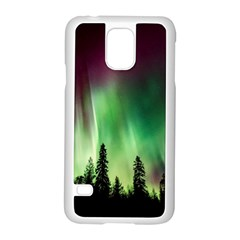 Aurora Borealis Northern Lights Samsung Galaxy S5 Case (white)