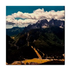 Italy Valley Canyon Mountains Sky Tile Coasters by BangZart