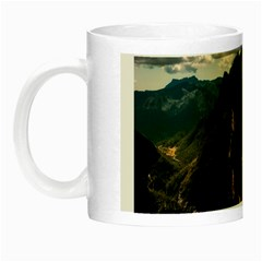 Italy Valley Canyon Mountains Sky Night Luminous Mugs by BangZart