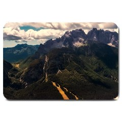 Italy Valley Canyon Mountains Sky Large Doormat