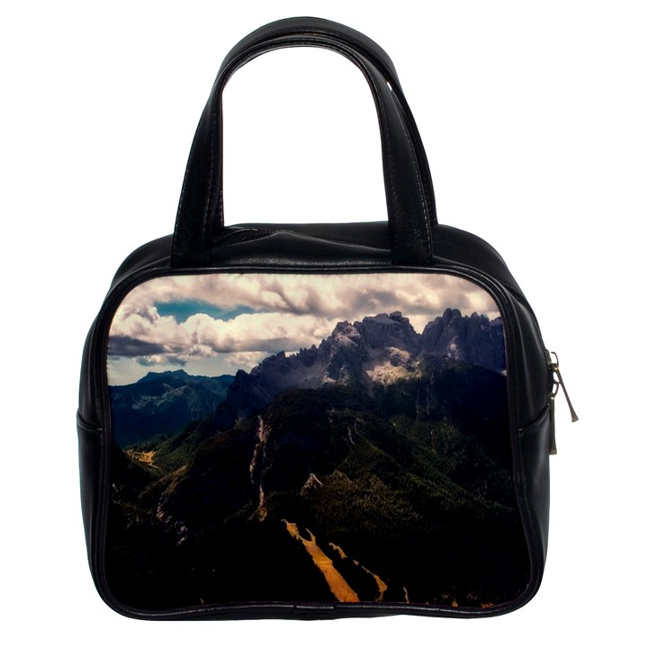 Italy Valley Canyon Mountains Sky Classic Handbags (2 Sides)