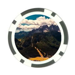 Italy Valley Canyon Mountains Sky Poker Chip Card Guard (10 Pack) by BangZart