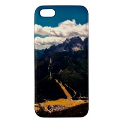 Italy Valley Canyon Mountains Sky Apple Iphone 5 Premium Hardshell Case