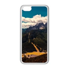 Italy Valley Canyon Mountains Sky Apple Iphone 5c Seamless Case (white)