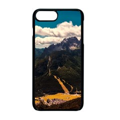 Italy Valley Canyon Mountains Sky Apple Iphone 7 Plus Seamless Case (black) by BangZart
