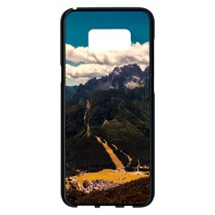 Italy Valley Canyon Mountains Sky Samsung Galaxy S8 Plus Black Seamless Case