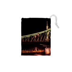 Budapest Hungary Liberty Bridge Drawstring Pouches (xs)