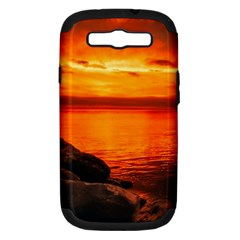 Alabama Sunset Dusk Boat Fishing Samsung Galaxy S Iii Hardshell Case (pc+silicone)