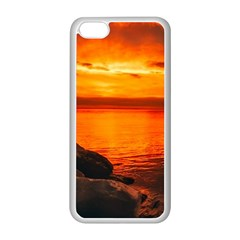 Alabama Sunset Dusk Boat Fishing Apple Iphone 5c Seamless Case (white) by BangZart