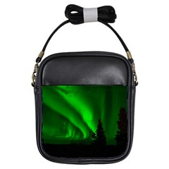 Aurora Borealis Northern Lights Girls Sling Bags by BangZart