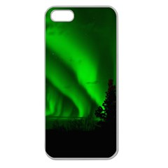 Aurora Borealis Northern Lights Apple Seamless Iphone 5 Case (clear) by BangZart