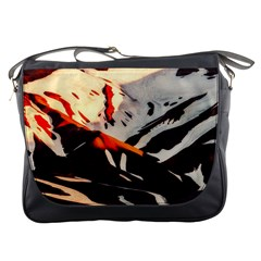 Iceland Landscape Mountains Snow Messenger Bags