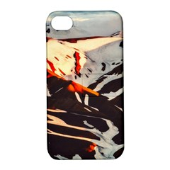 Iceland Landscape Mountains Snow Apple Iphone 4/4s Hardshell Case With Stand