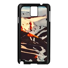 Iceland Landscape Mountains Snow Samsung Galaxy Note 3 N9005 Case (black) by BangZart