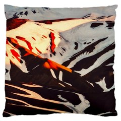 Iceland Landscape Mountains Snow Standard Flano Cushion Case (two Sides)