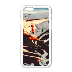Iceland Landscape Mountains Snow Apple Iphone 6/6s White Enamel Case