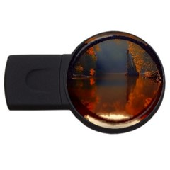 River Water Reflections Autumn Usb Flash Drive Round (2 Gb) by BangZart