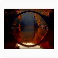 River Water Reflections Autumn Small Glasses Cloth