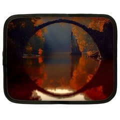 River Water Reflections Autumn Netbook Case (large)