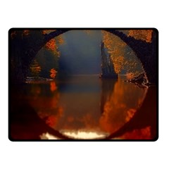 River Water Reflections Autumn Fleece Blanket (small) by BangZart