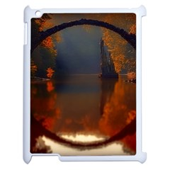 River Water Reflections Autumn Apple Ipad 2 Case (white) by BangZart