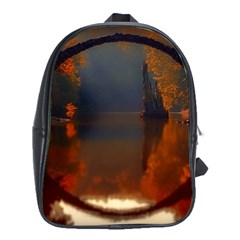 River Water Reflections Autumn School Bag (xl) by BangZart
