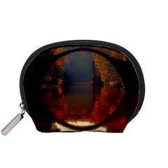River Water Reflections Autumn Accessory Pouches (small)  by BangZart