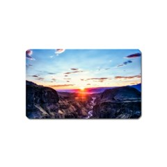 Iceland Landscape Mountains Stream Magnet (name Card)