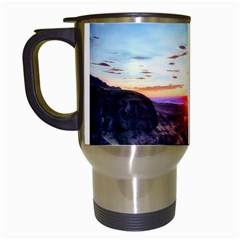 Iceland Landscape Mountains Stream Travel Mugs (white) by BangZart