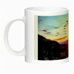 Iceland Landscape Mountains Stream Night Luminous Mugs