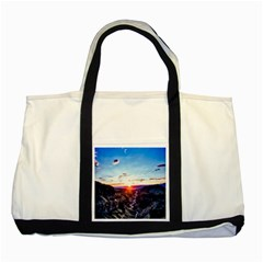 Iceland Landscape Mountains Stream Two Tone Tote Bag