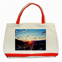 Iceland Landscape Mountains Stream Classic Tote Bag (red) by BangZart