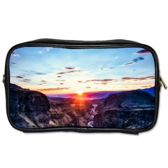 Iceland Landscape Mountains Stream Toiletries Bags 2 Side