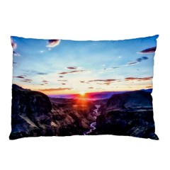 Iceland Landscape Mountains Stream Pillow Case (two Sides) by BangZart