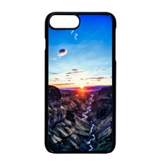 Iceland Landscape Mountains Stream Apple Iphone 8 Plus Seamless Case (black)