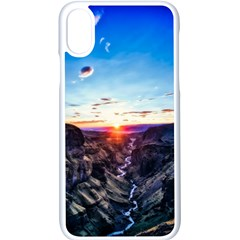 Iceland Landscape Mountains Stream Apple Iphone X Seamless Case (white) by BangZart