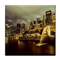 Singapore City Urban Skyline Face Towel by BangZart