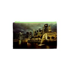 Singapore City Urban Skyline Cosmetic Bag (xs) by BangZart