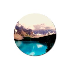 Austria Mountains Lake Water Magnet 3  (round)