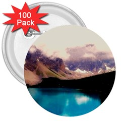 Austria Mountains Lake Water 3  Buttons (100 Pack)