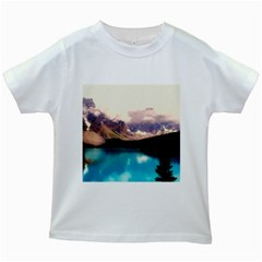 Austria Mountains Lake Water Kids White T-shirts
