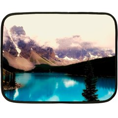 Austria Mountains Lake Water Double Sided Fleece Blanket (mini)  by BangZart