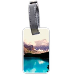 Austria Mountains Lake Water Luggage Tags (one Side)  by BangZart