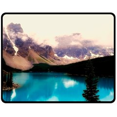 Austria Mountains Lake Water Double Sided Fleece Blanket (medium)  by BangZart