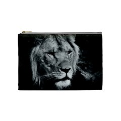 Africa Lion Male Closeup Macro Cosmetic Bag (medium)