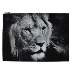 Africa Lion Male Closeup Macro Cosmetic Bag (xxl)