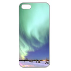 Aurora Borealis Alaska Space Apple Seamless Iphone 5 Case (clear) by BangZart